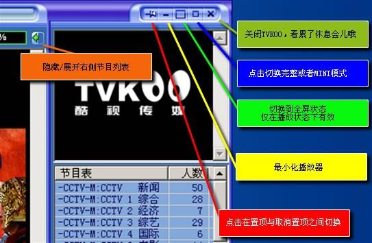 P2P流媒体播放软件TVKoo下载使用简介